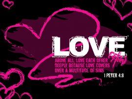 Papel de parede 1 Pedro 4:8