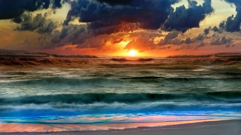 Papel de parede Por-do-sol Na Praia para download gratuito. Use no computador pc, mac, macbook, celular, smartphone, iPhone, onde quiser!