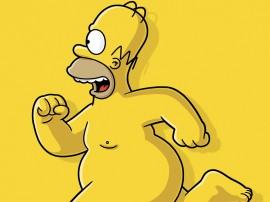 Papel de parede Homer Simpson Sem Camisa