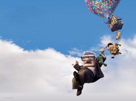Papel de parede Up – Altas Aventuras Pendurados na Casa Balão