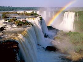 Papel de parede Cachoeira e Arco-Íris