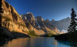 Papel de parede Anoitecer Nas Montanhas