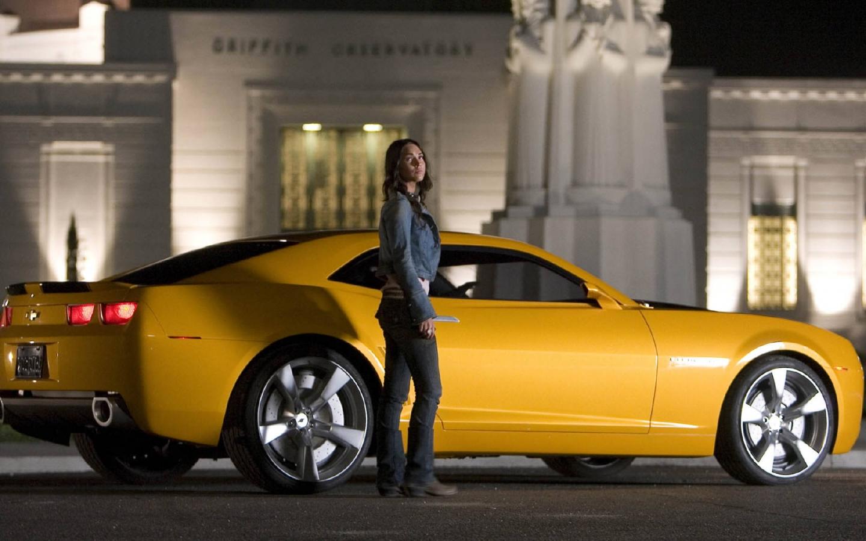 Papel De Parede Megan Fox E Camaro Transformers