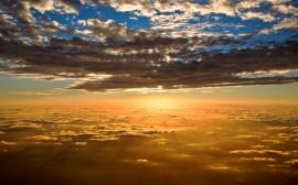 Papel de parede Nascer do Sol Visto do Céu