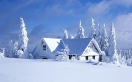 Papel de parede Casa na Neve