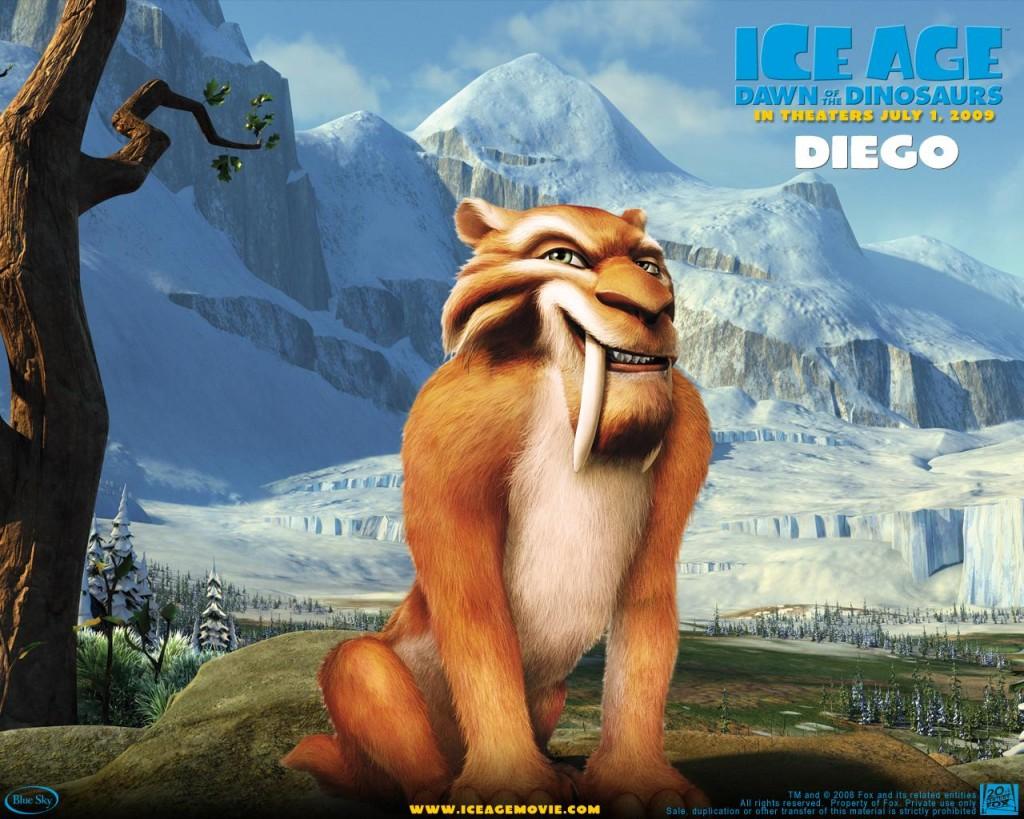 Papel de parede A Era do Gelo 3 – Diego para download gratuito. Use no computador pc, mac, macbook, celular, smartphone, iPhone, onde quiser!