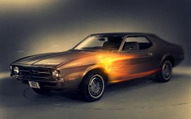 Papel de parede Ford Mustang 1972 Estilizado