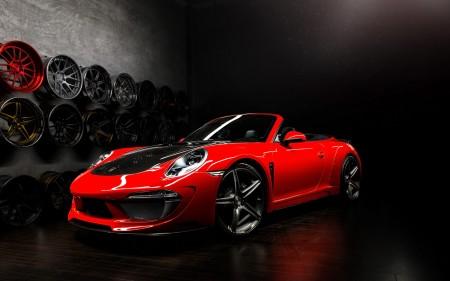 Papel de parede Porsche Carrera 991 Vermelho Conversível para download gratuito. Use no computador pc, mac, macbook, celular, smartphone, iPhone, onde quiser!
