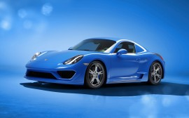 Papel de parede Porsche Cayman Azul Moncenisio