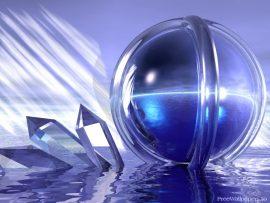 Papel de parede 3D – Esfera e Cristais