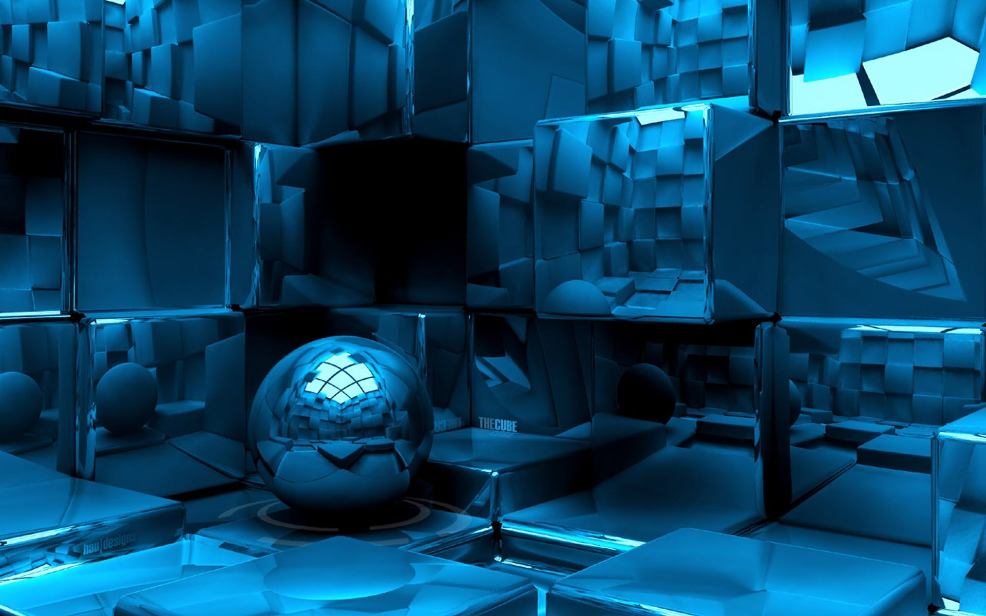 Papel de parede 3d o cubo wallpaper para download no celular ou computador pc - Papel pared 3d ...
