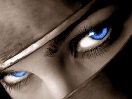 Papel de parede 3D – Olhos de Guerreira