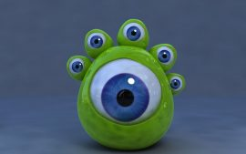 Papel de parede 3D – Seis Olhos