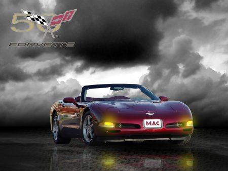 Papel de parede 50 anos de Corvette para download gratuito. Use no computador pc, mac, macbook, celular, smartphone, iPhone, onde quiser!