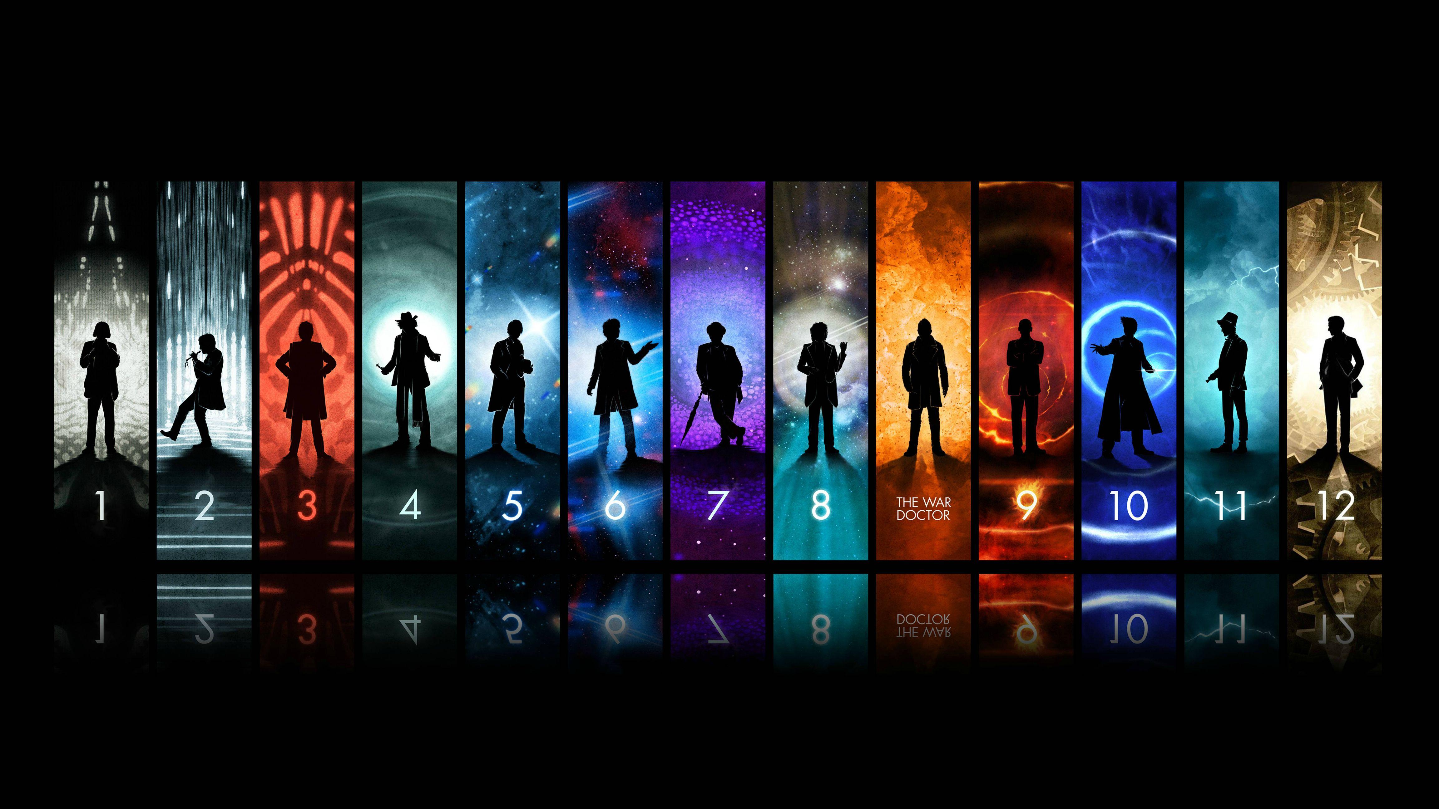 Papel de parede Doctor Who – Todos os Doutores para download gratuito. Use no computador pc, mac, macbook, celular, smartphone, iPhone, onde quiser!
