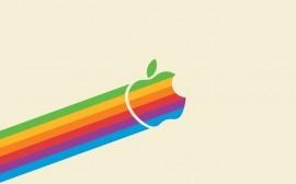 Papel de parede Apple: Subindo em Arco-Íris