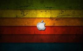 Papel de parede Apple: Fundo de Madeira Colorido