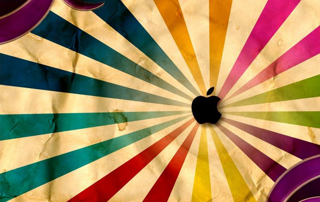 Papel de parede Apple: Raios Coloridos para download gratuito. Use no computador pc, mac, macbook, celular, smartphone, iPhone, onde quiser!