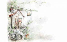 Papel de parede Árvore de Conto de Fadas
