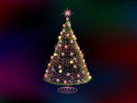 Papel de parede Árvore de Natal – Luzes