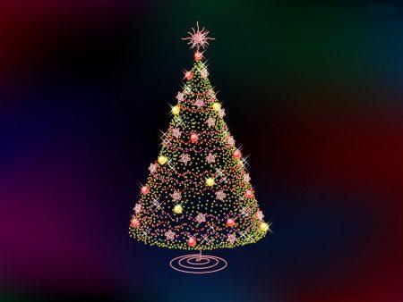 Papel de parede Árvore de Natal – Luzes para download gratuito. Use no computador pc, mac, macbook, celular, smartphone, iPhone, onde quiser!