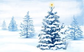 Papel de parede Árvore de Natal – Na Neve