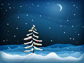 Papel de parede Árvore de Natal – Na Noite