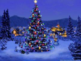 Papel de parede Árvore de Natal – Vizinhança