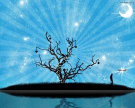 Papel de parede Árvore digital