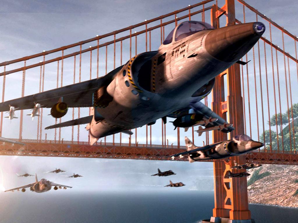 Papel de parede Avião – Sob a Ponte para download gratuito. Use no computador pc, mac, macbook, celular, smartphone, iPhone, onde quiser!