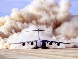 Papel de parede Avião – Pousando no Deserto