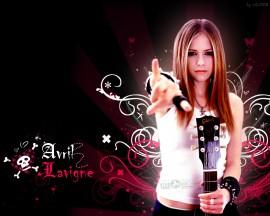 Papel de parede Avril Lavigne – Cantora