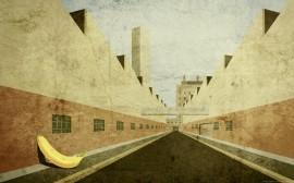 Papel de parede Banana e Rua