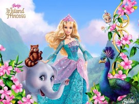 Papel de parede Barbie em A Princesa da Ilha