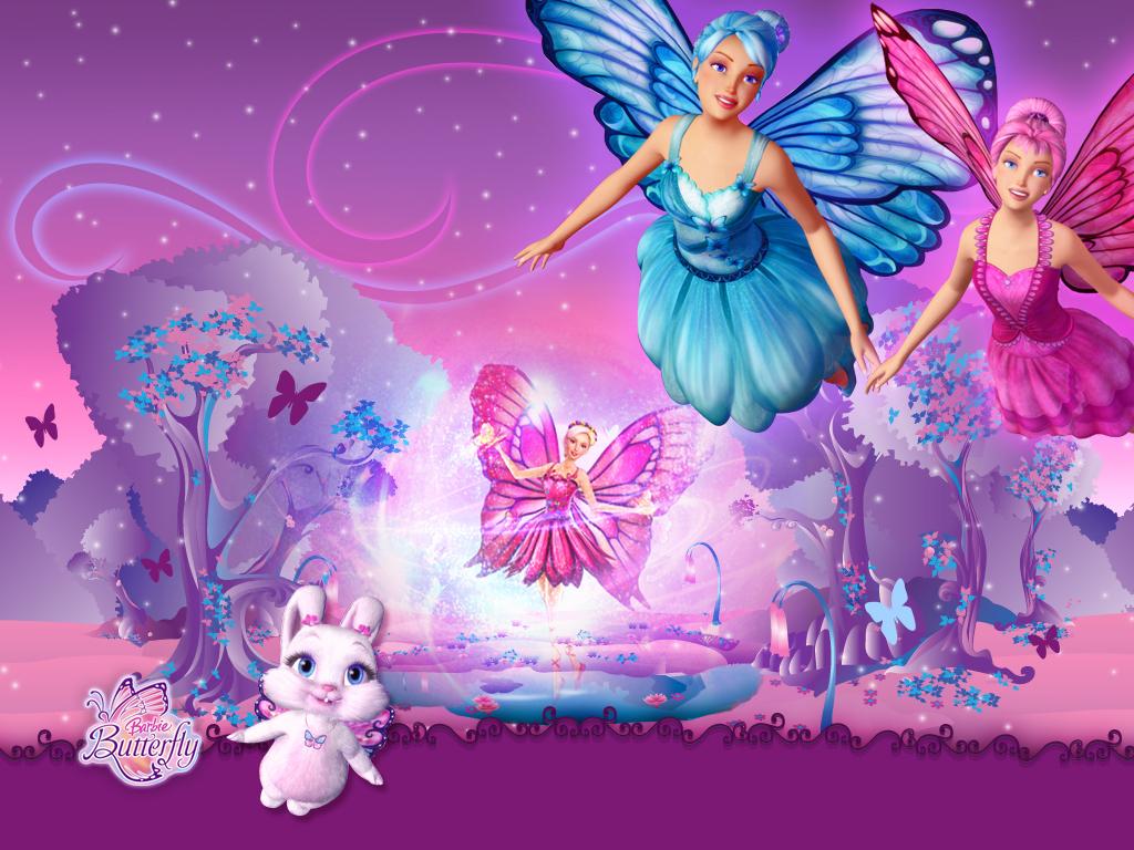 Papel de parede Barbie Borboleta e Suas Amigas para download gratuito. Use no computador pc, mac, macbook, celular, smartphone, iPhone, onde quiser!