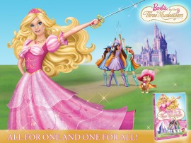 Papel de parede Barbie e as Três Mosqueteiras