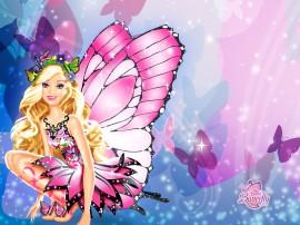 Papel de parede Barbie Borboleta