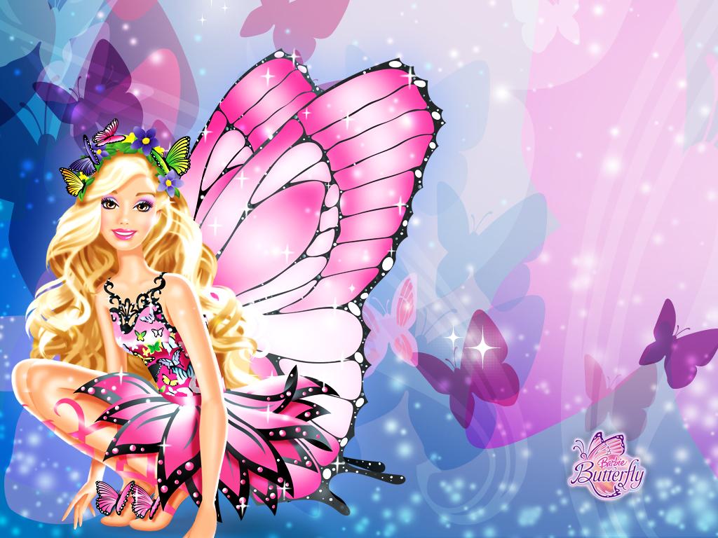 Papel de parede Barbie Borboleta para download gratuito. Use no computador pc, mac, macbook, celular, smartphone, iPhone, onde quiser!