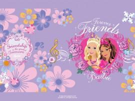 Papel de parede Barbie: Amigas para Sempre