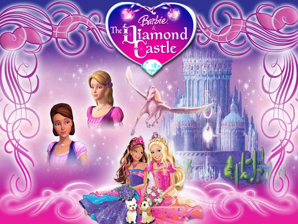 Papel de parede Barbie e o Castelo de Diamante para download gratuito. Use no computador pc, mac, macbook, celular, smartphone, iPhone, onde quiser!