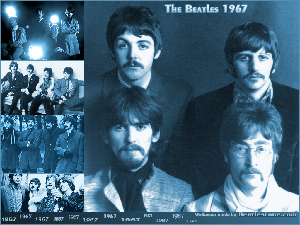 Papel de parede The Beatles – 1967 para download gratuito. Use no computador pc, mac, macbook, celular, smartphone, iPhone, onde quiser!