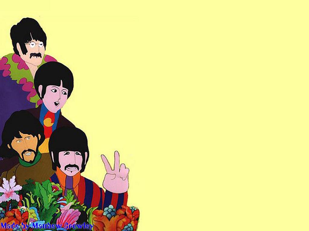 Papel de parede The Beatles – Desenho para download gratuito. Use no computador pc, mac, macbook, celular, smartphone, iPhone, onde quiser!