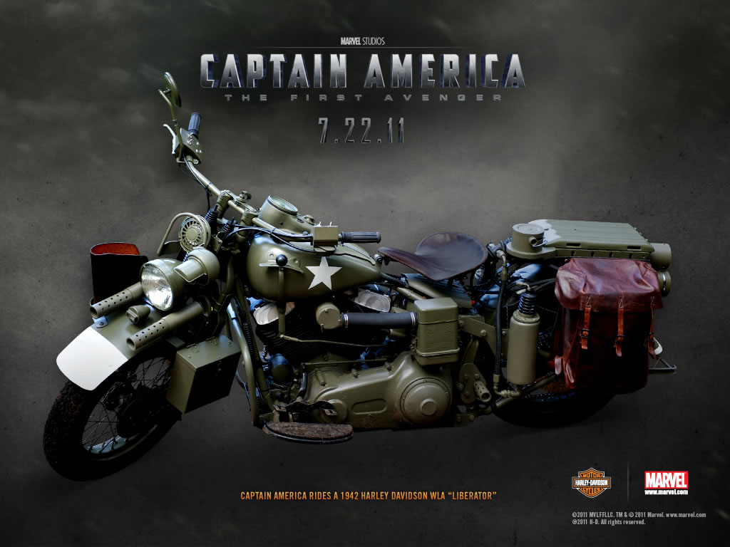 Papel de parede Capitão América – Harley Davidson para download gratuito. Use no computador pc, mac, macbook, celular, smartphone, iPhone, onde quiser!