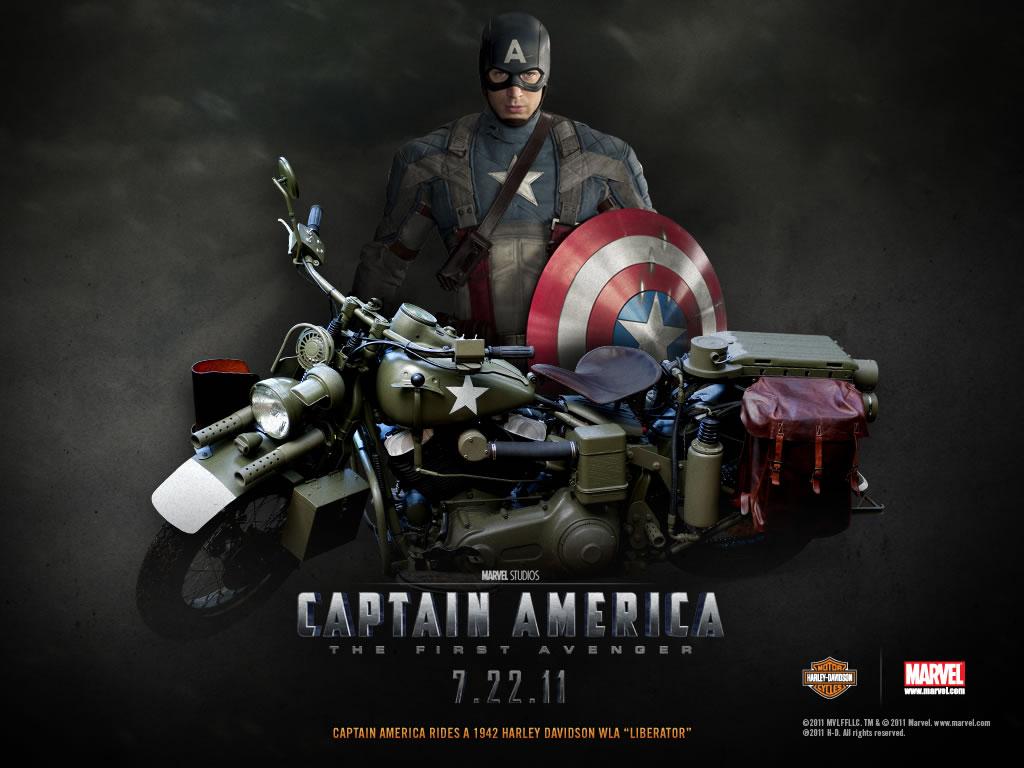 Papel De Parede Capitao America Moto Wallpaper Para Download No