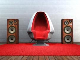 Papel de parede Cadeira – Música