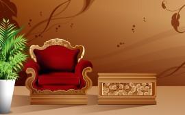Papel de parede Cadeira – Luís XV