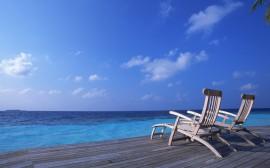 Papel de parede Cadeira – Beira do Mar