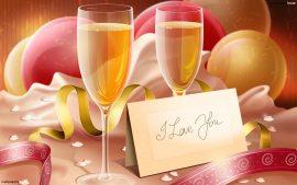 Papel de parede Champagne – Celebrar o Amor