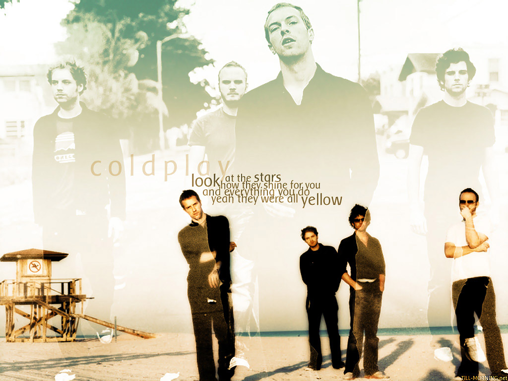 Papel de parede Coldplay: Yellow para download gratuito. Use no computador pc, mac, macbook, celular, smartphone, iPhone, onde quiser!