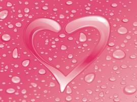Papel de parede Coração – Vidraça Molhada